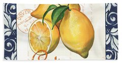 Azure Lemon 2 Hand Towel by Debbie DeWitt