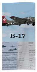 Bath Towel featuring the photograph B 17 by Geraldine DeBoer