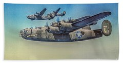 B-24 Liberator Bomber Bath Towel