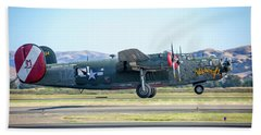 B24 Liberator Takeoff At Livermore Hand Towel
