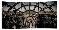 B29 Superfortress Fifi Cockpit View Bath Towel