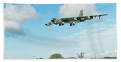 Bath Towel featuring the digital art B52 Stratofortress -2 by Paul Gulliver