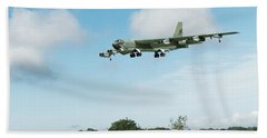 Hand Towel featuring the digital art B52 Stratofortress by Paul Gulliver