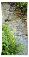 Babble Brook Hand Towel by Amanda Eberly-Kudamik