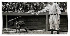 Babe Ruth At Bat Hand Towel
