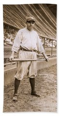 Babe Ruth On Deck Hand Towel
