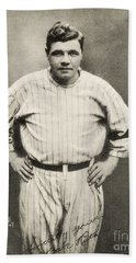 Babe Ruth Portrait Hand Towel