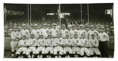 Babe Ruth Providence Grays Team Photo Hand Towel