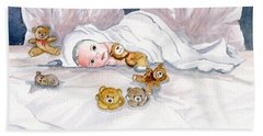 Baby And Friends Bath Towel by Melly Terpening