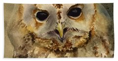 Baby Barred Owl Hand Towel
