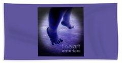 Baby Blu Dancing Royal Feet Hand Towel by Talisa Hartley