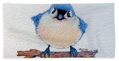 Baby Bluebird Bath Towel by Marcia Baldwin