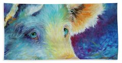 Baby Blues Piggy Hand Towel by Marcia Baldwin