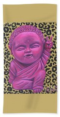 Bath Towel featuring the painting Baby Buddha 2 by Ashley Price