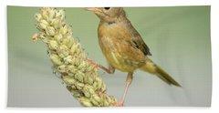Baby Common Yellow Throat Warbler Bath Towel