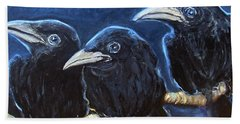 Baby Crows Hand Towel