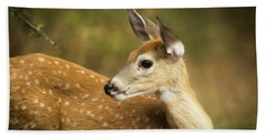 Baby Deer Hand Towel by Tyra OBryant