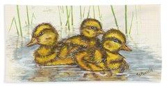 Baby Ducks For Ma Bath Towel