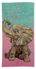 Baby Elephant Hand Towel by Michael Creese