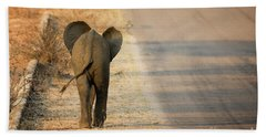 Baby Elephant Rear View Hand Towel