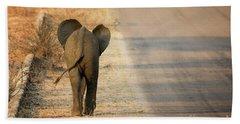 Baby Elephant Rear View Bath Towel