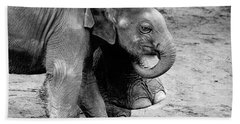 Baby Elephant Security Bath Towel by Wes and Dotty Weber