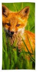Baby Fox Hand Towel