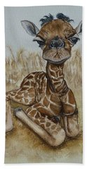 New Born Baby Giraffe Bath Towel