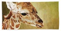 Baby Giraffe Hand Towel