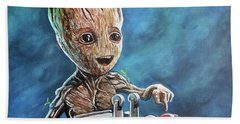 Baby Groot Hand Towel by Tom Carlton