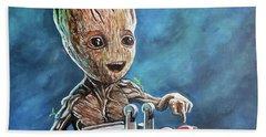 Baby Groot Bath Towel by Tom Carlton