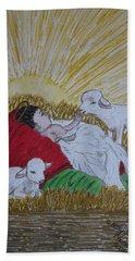 Baby Jesus At Birth Bath Towel