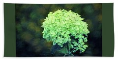 Bath Towel featuring the photograph Baby Lime Hydrangea  by Sandi OReilly