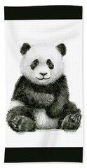 Baby Panda Watercolor Hand Towel
