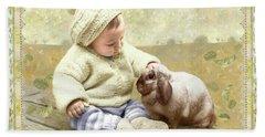 Baby Pats Bunny Hand Towel