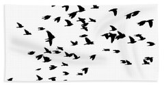 Back Birds In Flight Hand Towel
