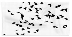 Back Birds In Flight Bath Towel