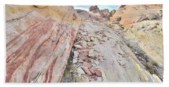 Back Country Valley Of Fire Hand Towel by Ray Mathis