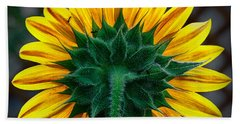 Back Of Sunflower Bath Towel