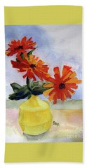 Bath Towel featuring the painting Back To Basics by Sandy McIntire
