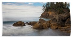 Back To The Beach Hand Towel by Mark Alder