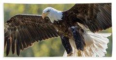 Backlit Eagle Hand Towel