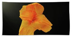 Backlit Orange Petals Bath Towel