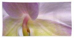 Backlit Orchid Bath Towel