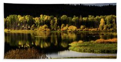 Backwater Blacks At Oxbow Bend Hand Towel