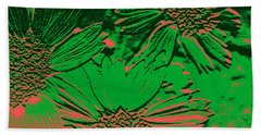 Abstract Flowers 1 Hand Towel