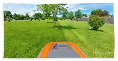 Hand Towel featuring the photograph Backyard Mowing by Ricky L Jones