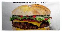 Bacon Cheeseburger Hand Towel