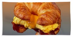 Bacon Egg Cheese Croissant  Hand Towel