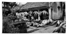 Weaving Fishing Pods Baskets Vietnam Home Bw Bath Towel